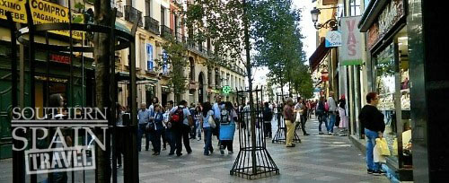 Shopping treet in Spain