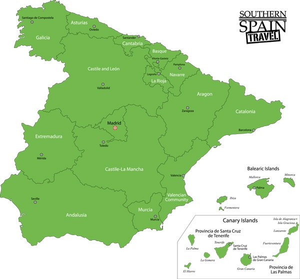 Map Of Spain - Map of spain