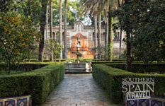Alcazar Gardens in Seville Spain
