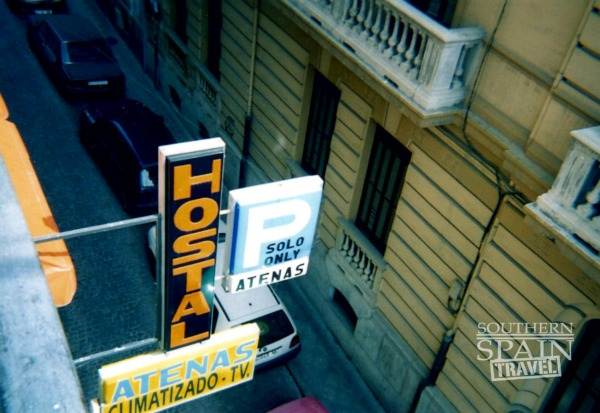 Hostel Sign in Spain