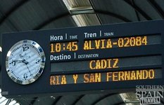 Train Station Sign in Spai